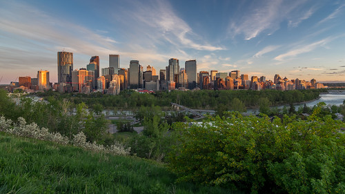 skyline calgary sunset crescentheights cityscape bowriver 169 cirrusclouds da1224mm princesislandpark