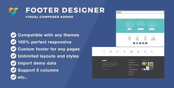 Footer Designer WordPress Plugin free download