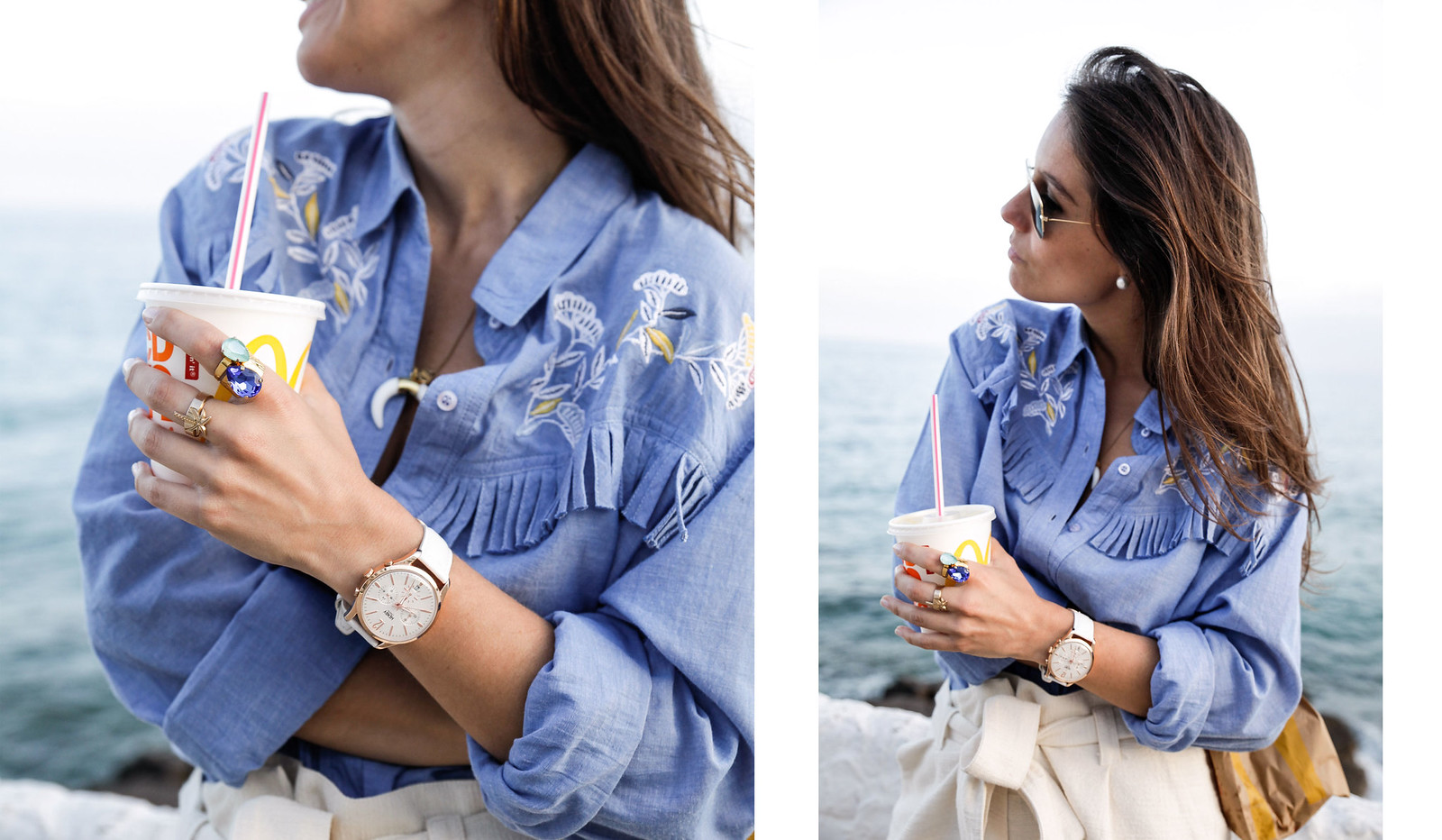 03_camisa_flecos_azul_mysundaymorning_fringed_shirt_fringed_theguestgirl_influencer_inspo_outft_summer_laura_santolaria_public_desire_denim_shoes_mc_donalds