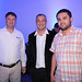 Gianni Huez, gerente de Ventas de Swanson Industries Chile y Daniel Chadud, director Ejecutivo de la empresa, junto a Fernando Olivares, de Minera Centinela
