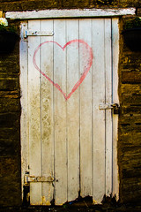 red heart white door 3