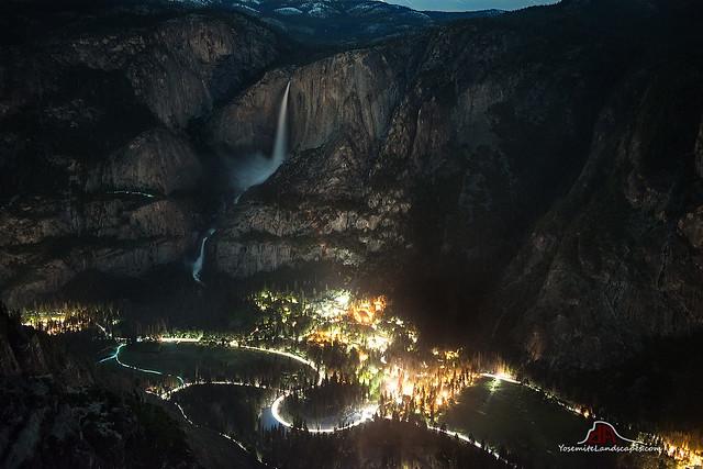 Yosemite Falls by Valley Light