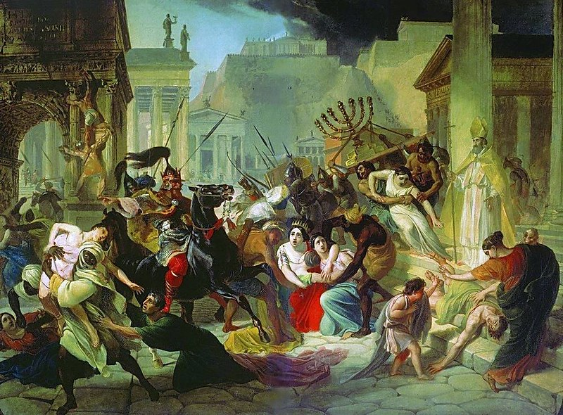 Sack of Rome, by Karl Bryullov
