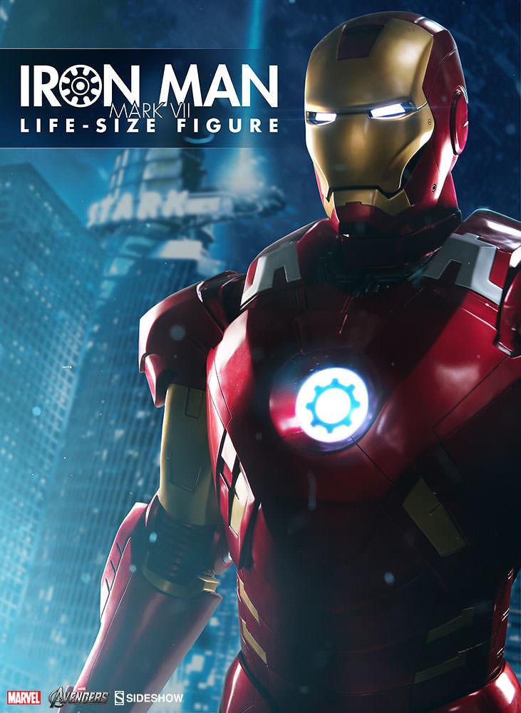 超狂1:1 比例鋼鐵裝!!Sideshow 復仇者聯盟【鋼鐵人馬克7】Iron Man Mark VII Life-Size Figure