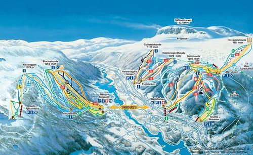 Geilo - mapa sjezdovek