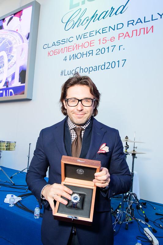 Андрей Малахов с часами Chopard L.U.C Time Traveller One