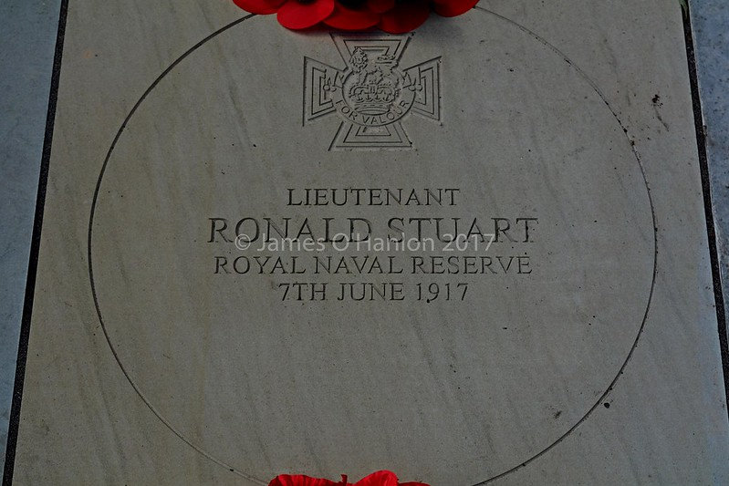 The Memorial Stone to Mr Stuart VC