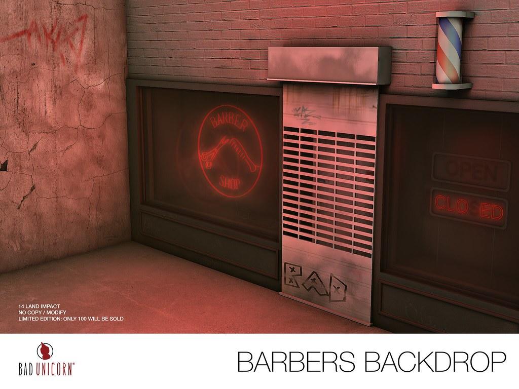 NEW! Barbers Backdrop @ Limit8 (Opens 5 SLT) - SecondLifeHub.com