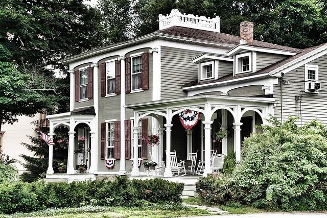 Homer New York ~ Federal House Architecture ~ David Harum Mansion ~