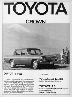 1967 Toyota Crown (Swiss Ad)