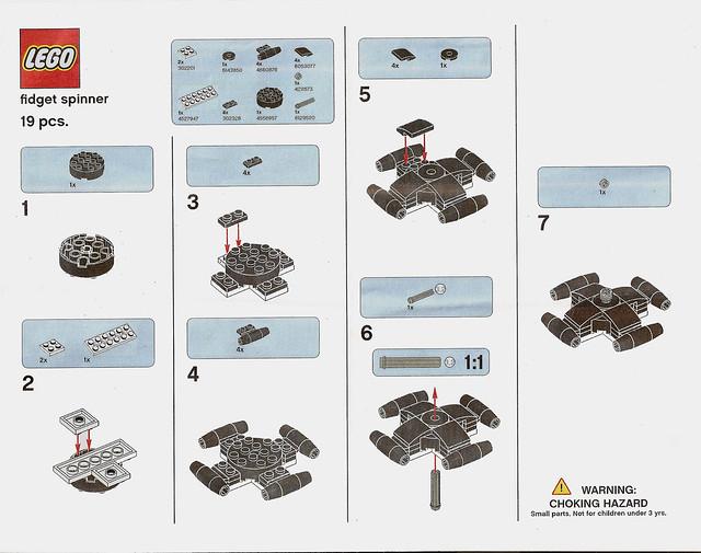 Instrukcja budowy Lego Fidget Spinner 2