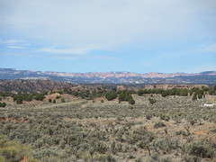 View toward Bryce Canyon National Park, Cottonwood Canyon Road near Cannonville, Utah