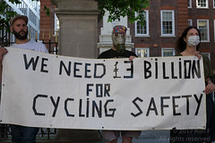 Cyclists vigil & die-in at Tory party HQ - 26 May 2017