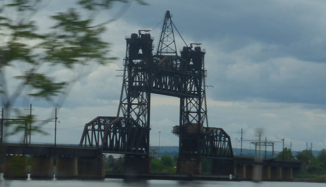 Conrail (Lehigh Valley) Newark Bay Bridge raised