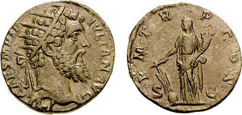 Coin of Roman Emperor Didius Julianus