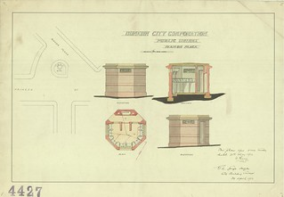 Manor Place Public Urinal plans, 1912