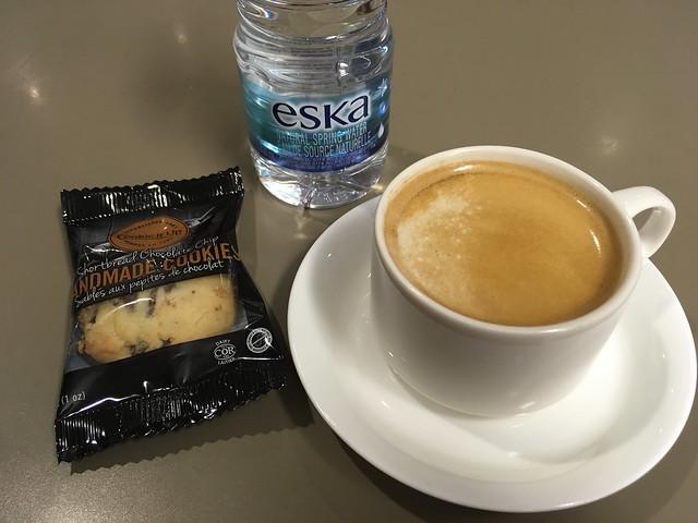 Pre-flight snacks - Porter Airlines Lounge