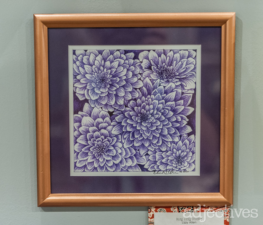 Floral ink drawing in Altamonte by Lizzy Busy Studios