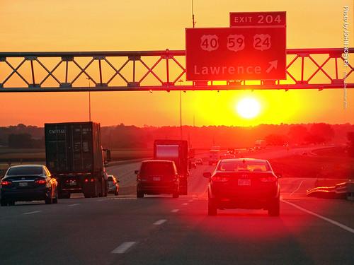 lawrence kansas usa i70 kta kansasturnpike interstate70 interstate highway road tollway eastbound eastboundi70 sunrise drive driving driverpic ontheroad 2016 september september2016