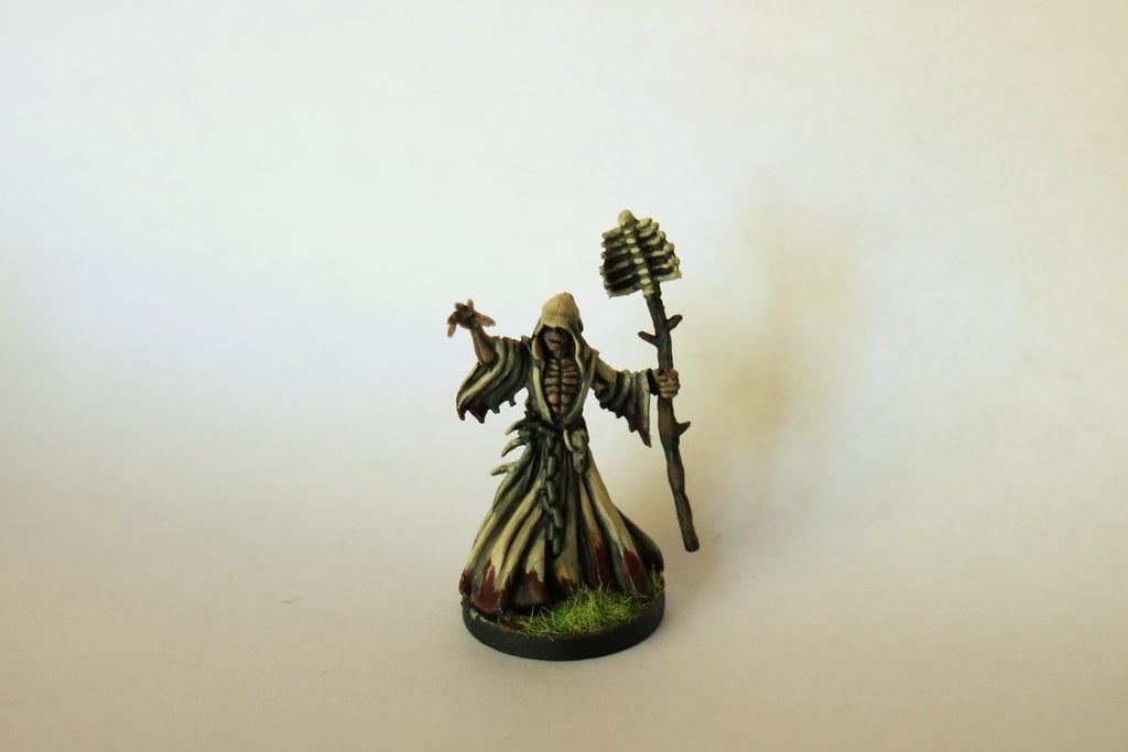 Runewars Miniatures Waiqar Necromancer Front