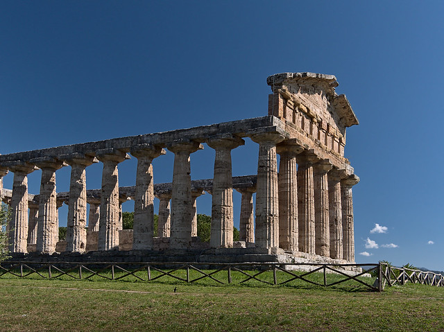 Paestum Temple of Athena, Olympus E-PM2, Lumix G 20mm F1.7 Asph.