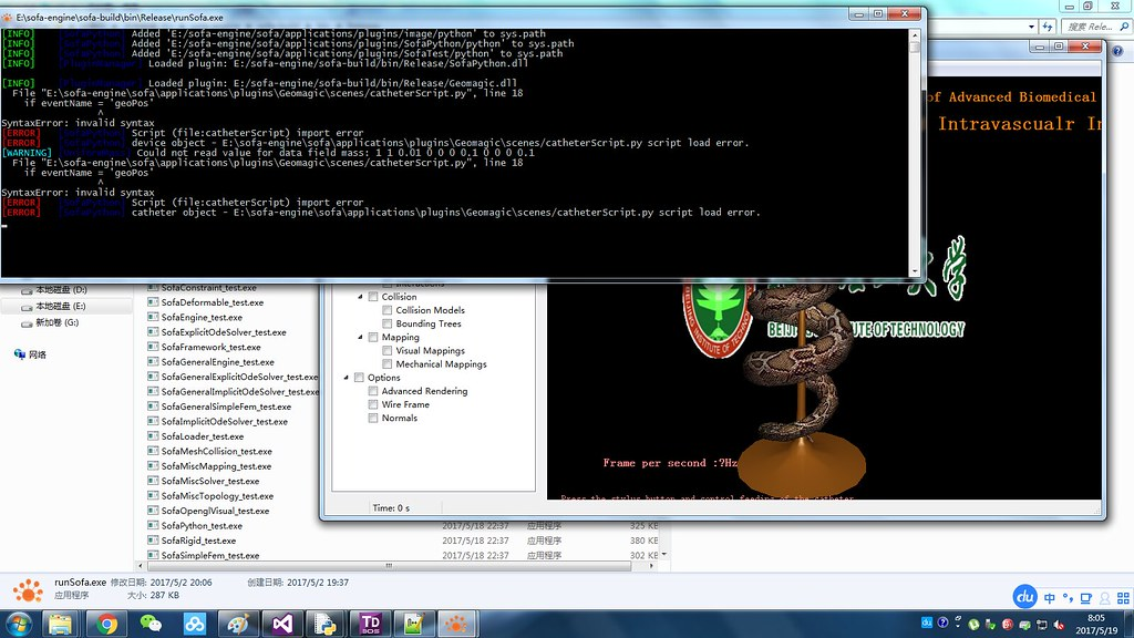 error in loading python script
