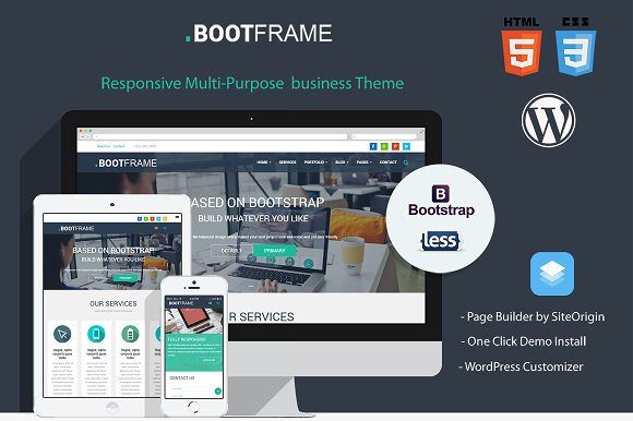 BootFrame v3.0.4 - WordPress theme