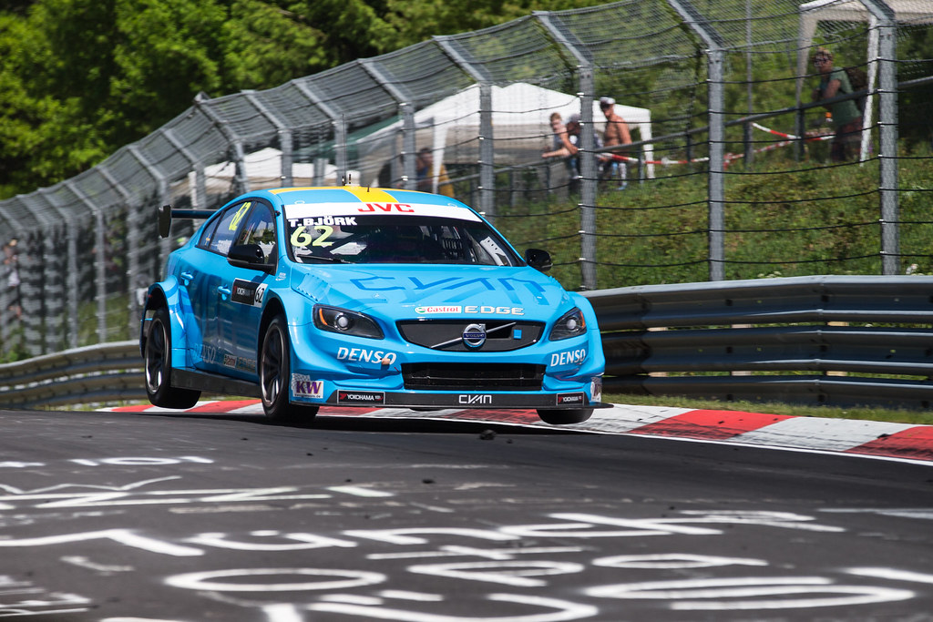 62 BJORK Thed (swe), Volvo S60 Polestar team Polestar Cyan Racing, action during the 2017 ETCC European Touring Car Championship race at Nurburgring, Germany from May 26 to 28 - Photo Antonin Vincent / DPPI