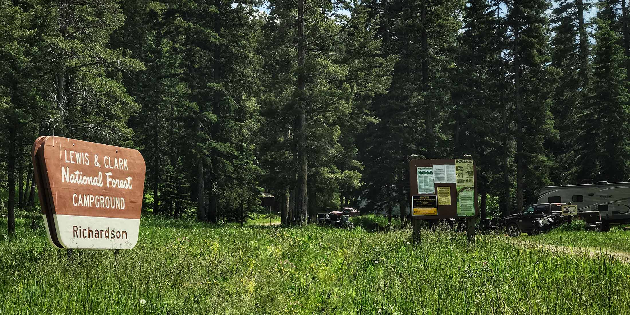 Information about Richardson Campground located in the Castle Mountains, Montana.