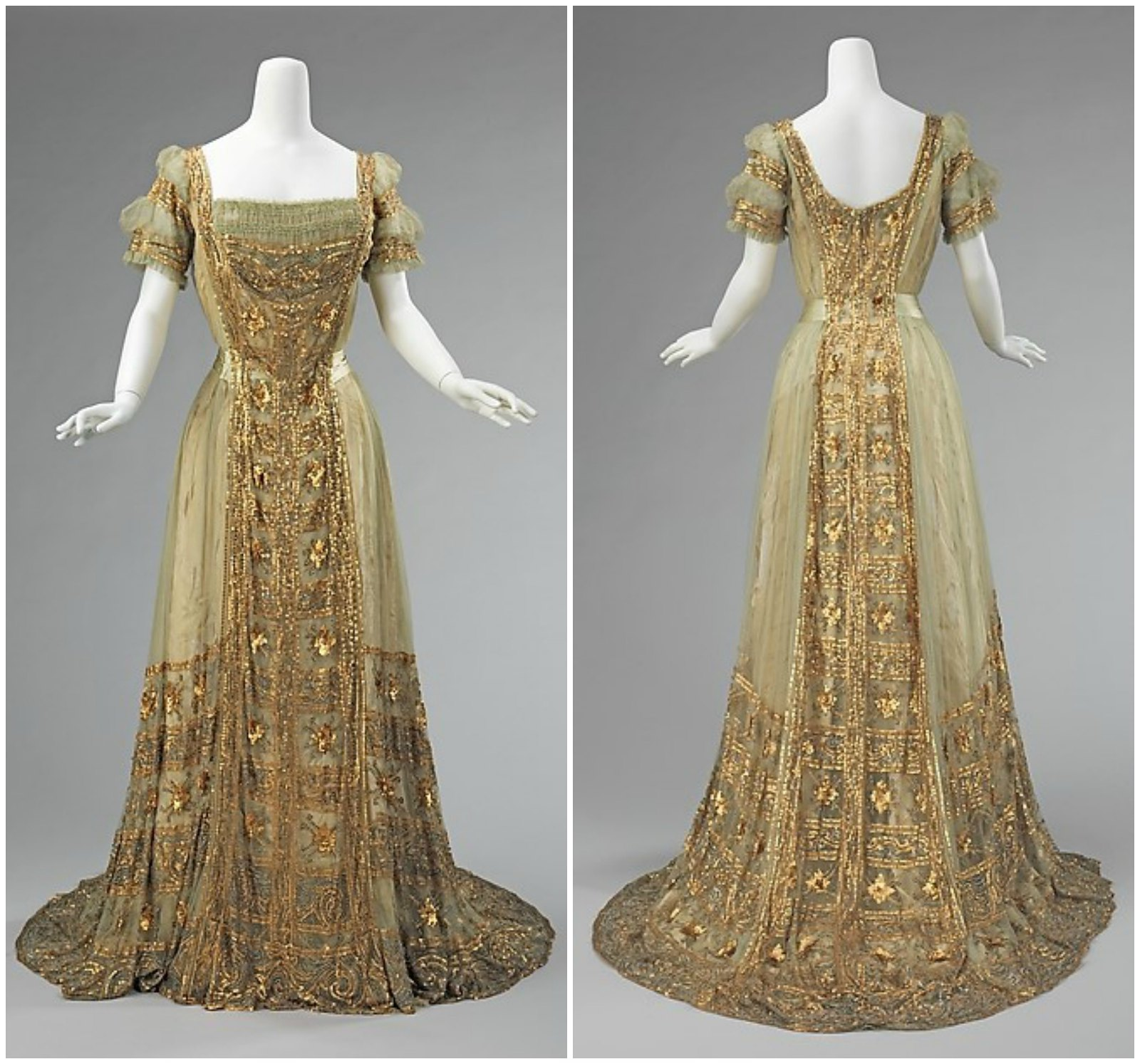 1910 Ball Gown. American. Silk. metmuseum