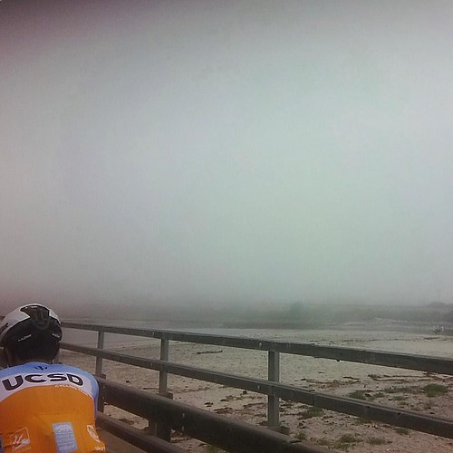 May Gray was in full effect when the @ucsdcycling Tour de Donuts got to the coast this past weekend. It kept things cool, but didn't do much for scenic photos! . . . #ucsd #cycling #roadbike #sandiego #maygray #spring #donuts #fog #overcast