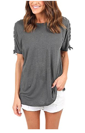 Loose fit lace up sleeve