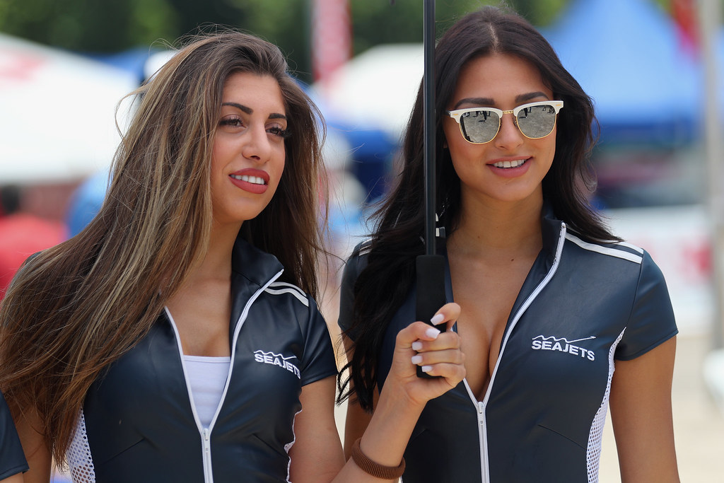 SEAJETS  girls  ambiance during the European Rally Championship 2017 - Acropolis Rally Of Grece - From June 2 to 4 - Photo Gregory Lenormand / DPPI