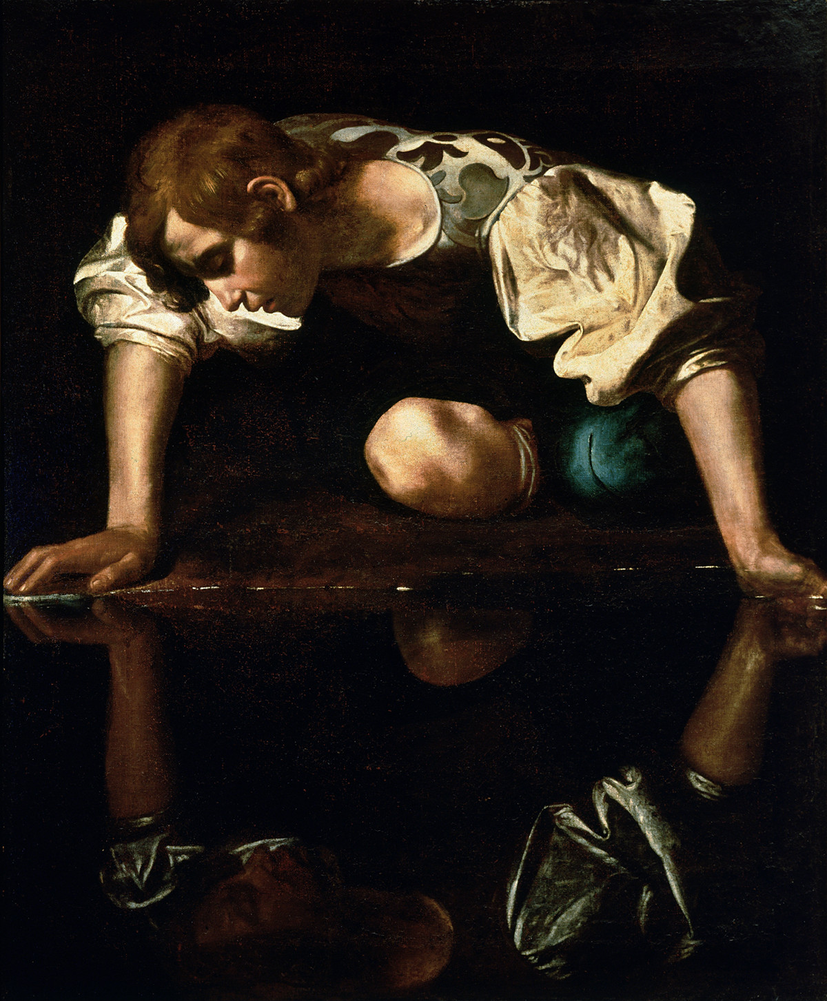 Narcissus by Caravaggio, 1596