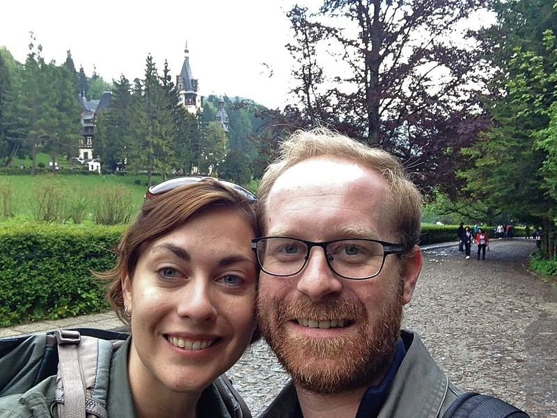 Us with Peles Castle