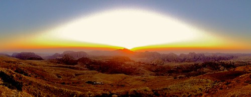 iphone panoramic pano marriott light sun ridgeline ridge skyline sky sandstone rosered yellow orange sunset sunshine culturalsite worldheritage unesco wondersoftheworld new7wonders new7wondersoftheworld hills mountains desert middleeast jordan valley petra wadiarabah mounthor jebelalmadhbah albatrā