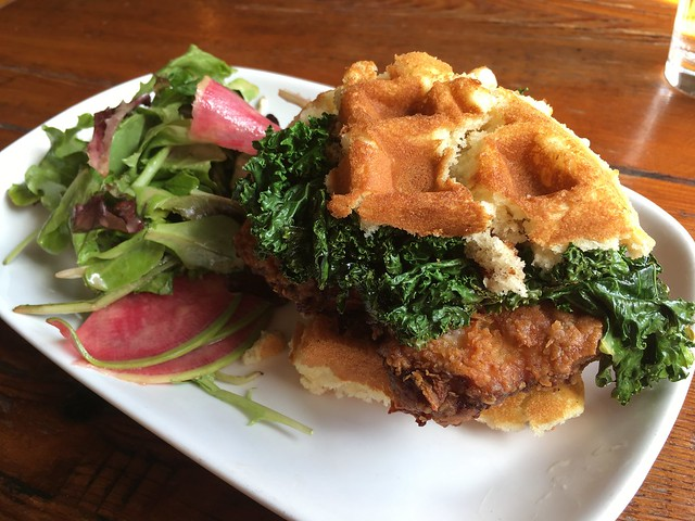 Chicken and waffles sandwich - The Wine Kitchen