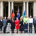 The Lord Mayor with City staff and representatives from the Aboriginal and Torres Strait Islander Advisory Panel and Reconciliation Australia.