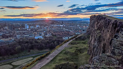 Sunset from Salisbury Crags