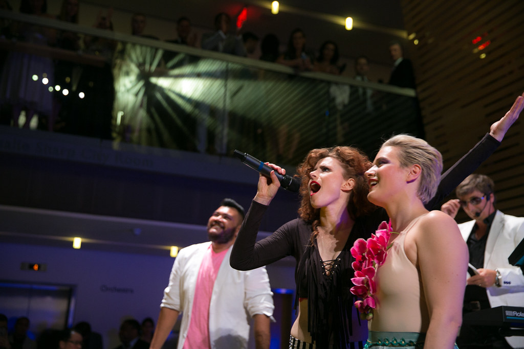 Kiesza with members of the COC Ensemble Studio
