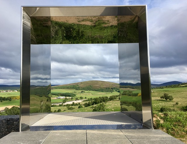 Enhanced view- sculpture called Still near Tomintoul.
