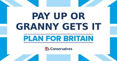 Conservatives 2017 General Election Manifesto Pledges PAY UP OR GRANNY GETS IT
