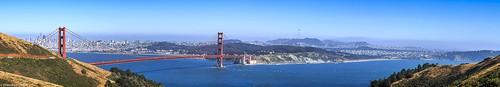 calfiornia goldengatenationalrecreationarea heallands marincounty golden gate brideg sanfrancisco panoramic san francisco bay pacificocean city landscape