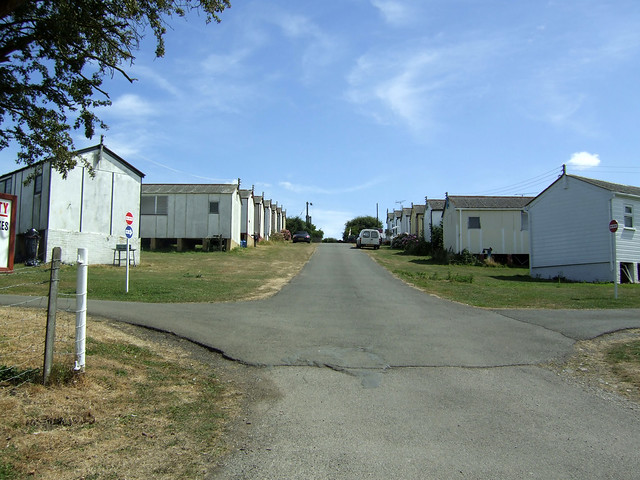 Caravan park near Eastchurch on the Isle of Sheppey