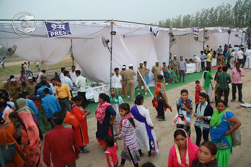 Pavilions in the Satsang venue