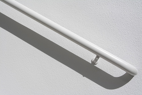 White handrail and shadow (on Explore)