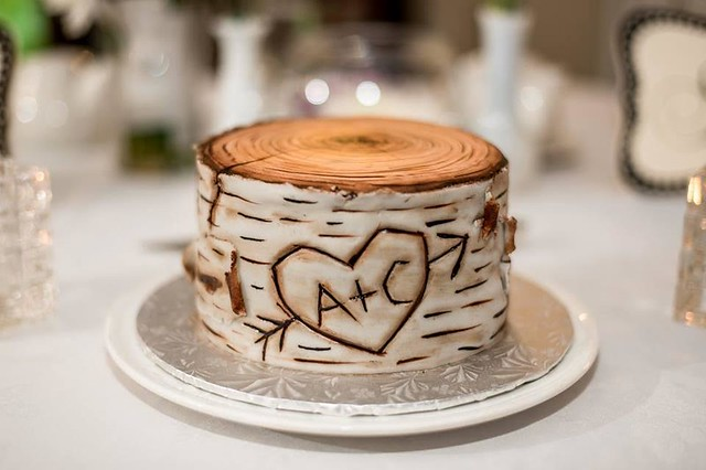 Birch Bark Stump Cake by Kimberly Hart of Sweethart Baking Experiment
