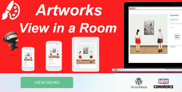 Artworks view in Room WordPress Plugin free download