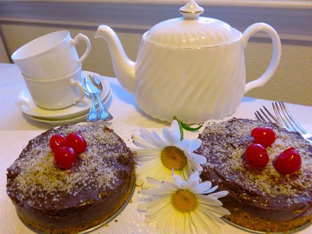 Tea time. Nutella Cheese Cake