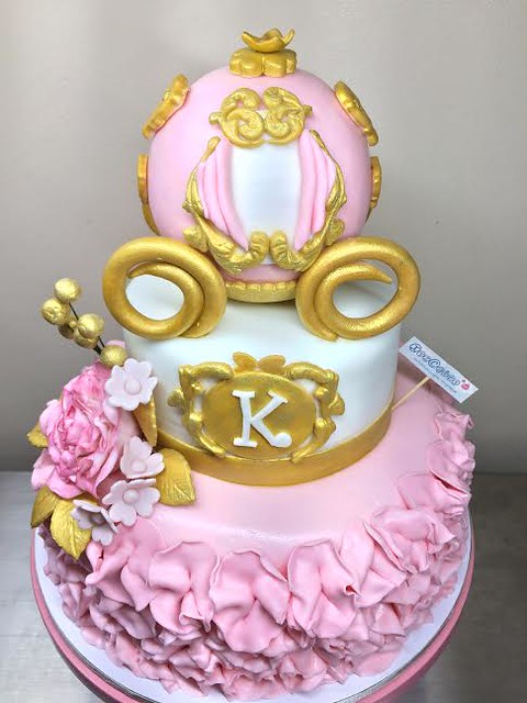 Cinderella Inspired Baptismal Cake by Maria Rosos of Xyz Cakes